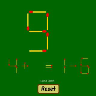 マッチ棒計算(2つの足し引き算編)